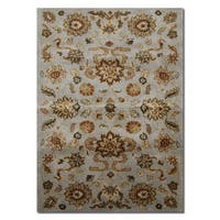 Multicolored Wool Contemporary Botanical Hand-knotted Persian-design Oriental Area Rug - 3'6 x 5'6