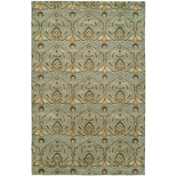 Gramercy Baltic Teal Wool Handmade Area Rug (8' x 10') - 8' x 10'