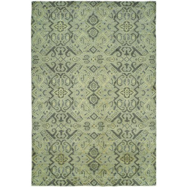 Gramercy Baltic Blue Wool Blend Handmade Area Rug (8' x 10')