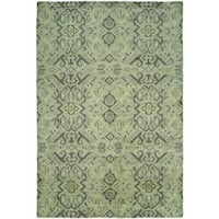 Gramercy Baltic Blue Wool Blend Handmade Area Rug (8' x 10') - 8' x 10'
