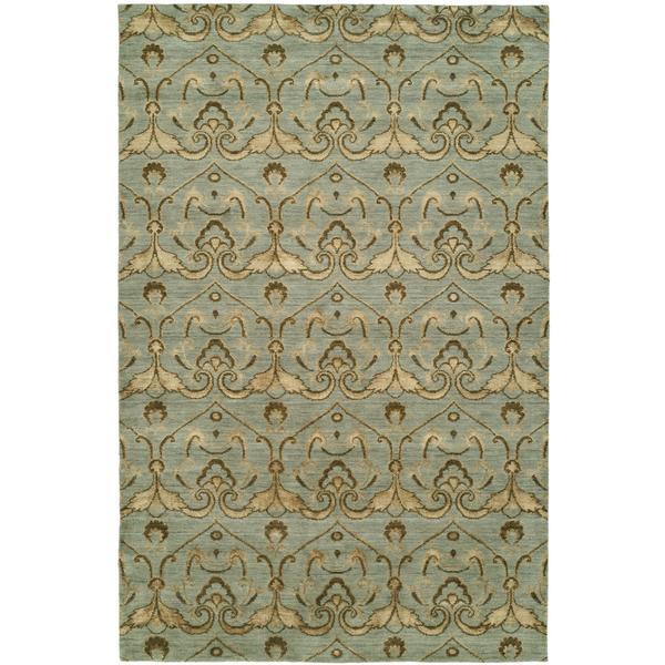 Gramercy Baltic Teal Wool Handmade Area Rug - 10' x 14'