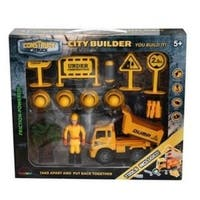 Construct A Truck- City Builder Dump. Take Apart, put back together, friction powered, with pretend play toys.