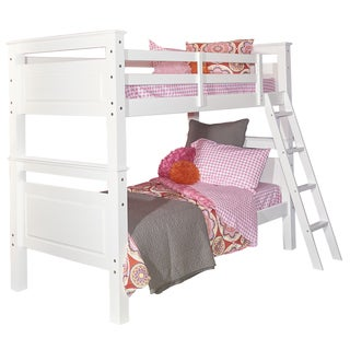 Powell Beckett White Wood Twin Bunk Bed
