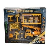 Construct A Truck- City Builder Crane. Take Apart, put back together, friction powered, with pretend play toys.