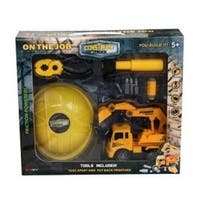 Construct A Truck- On The Job Excavator. Take Apart, put back together, friction powered, with role play toys.