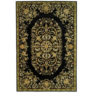 Safavieh Handmade Heritage Timeless Traditional Black Wool Rug (6' x 9')