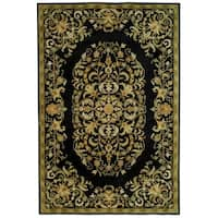Safavieh Handmade Heritage Timeless Traditional Black Wool Rug - 6' x 9'