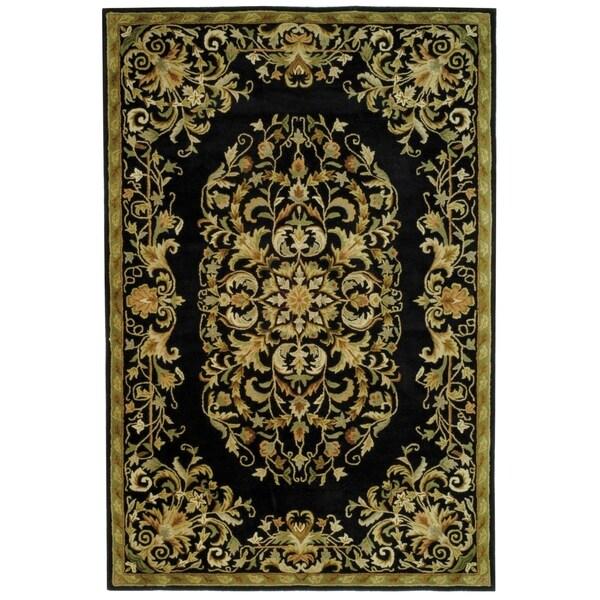 Safavieh Handmade Heritage Timeless Traditional Black Wool Rug - 7'6 x 9'6
