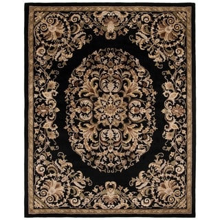 Safavieh Handmade Heritage Timeless Traditional Black Wool Rug (7'6 x 9'6)