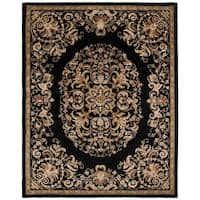 "Safavieh Handmade Heritage Timeless Traditional Black Wool Rug - 7'-6"" x 9'-6"""