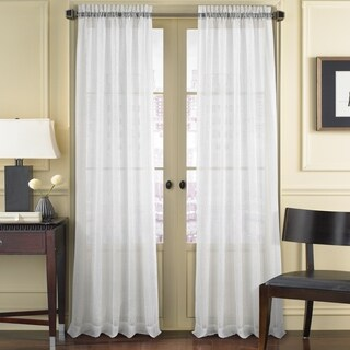 Five Queens Court Sidney Woven Semi Sheer Window Curtain