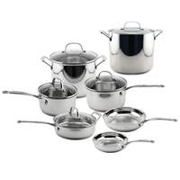 Premium 12pc Stainless Steel Cookware Set
