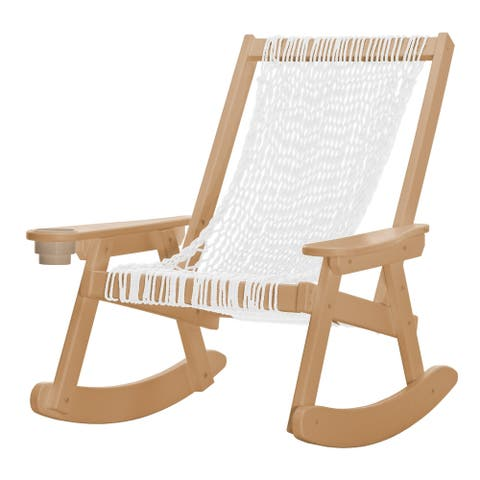 Coastal Duracord Cedar Rope Rocker