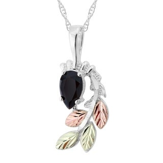 Black Hills Gold on Silver Onyx Necklace