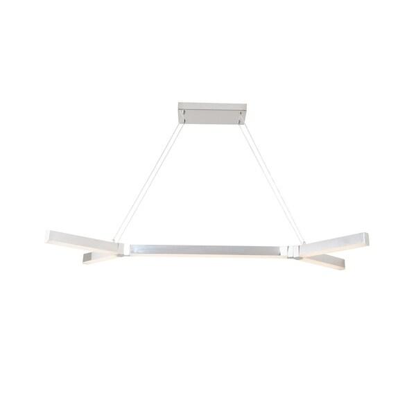 Luzano Chrome Acrylic 47-inch Pendant Lamp