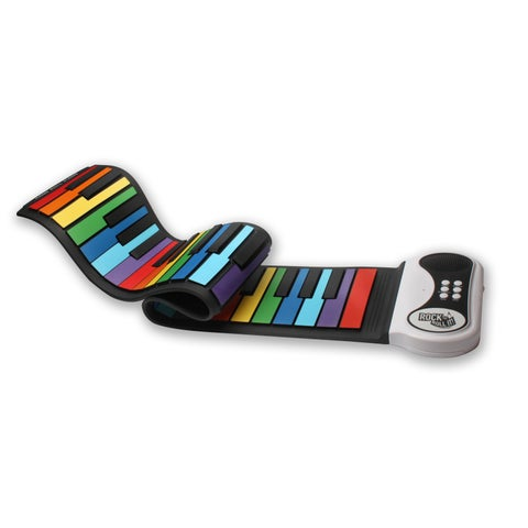 Rock And Roll It- Rainbow Piano. Completely portable and flexible play-by-color piano.
