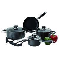 10 Pc Healthy Non Stick Cookware Set Gas Cookware Pans w/ Glass Lids