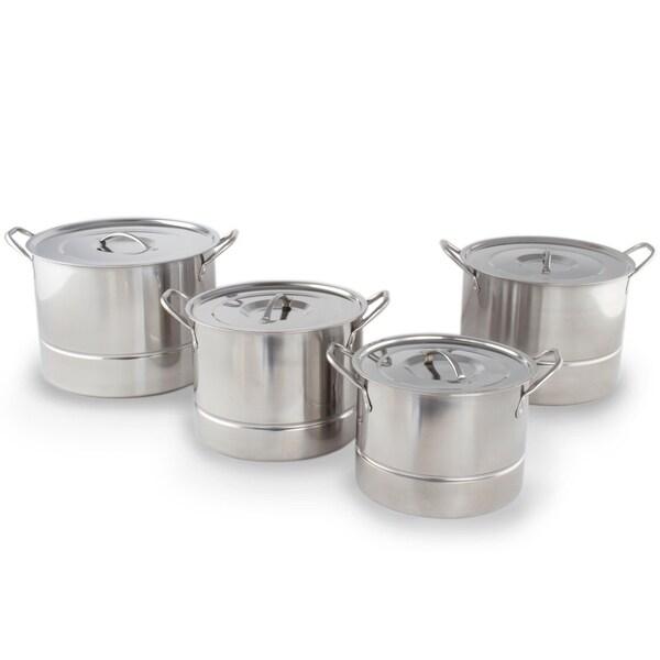 Shop Stainless Steel Steamer Pot Set 12 Pc Steam Pot W/ Steamer Insert