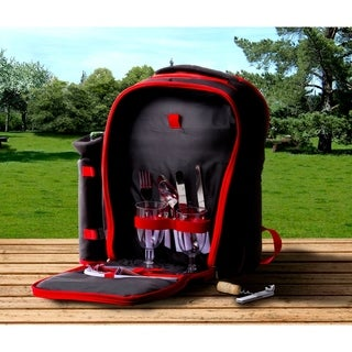 Insulated Picnic Basket Set w/ 2 Place Settings