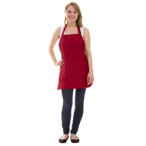 Leisureland Thigh Length Adjustable Pocket Kitchen Apron