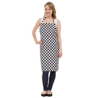 Leisureland Full Length Checkered Adjustable Pocket Kitchen Apron