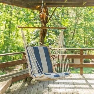 Outdoor Sunbrella Cushioned Swing in Regency Indigo