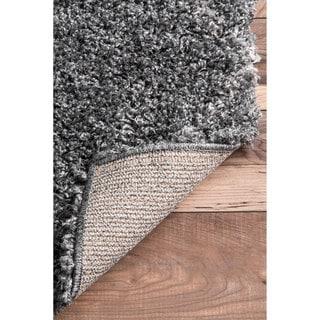nuLoom Diamond Trellis Moroccan Grey Lattice Shag Rug (8' x 10')