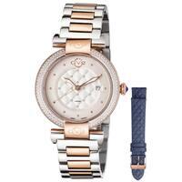 GV2 Women's Swiss Quartz Diamond Two tone Bracelet Watch Set