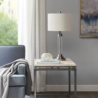 Madison Park Ventura Silver Table Lamp with Drum Shade