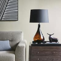 Madison Park Mercer Black Table Lamp with Cone Shade