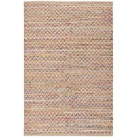 Safavieh Hand-Woven Cape Cod Red/ Natural Jute Rug - 3' x 5'
