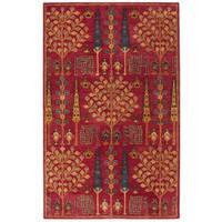 Safavieh Handmade Heritage Red/ Multi Wool Rug - 3' x 5'