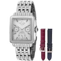 GV2 Women's Swiss Quartz Diamond Chronograph Stainless steel Bracelet Watch Set