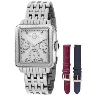 GV2 Women's Swiss Quartz Diamond Chronograph Stainless steel Bracelet Watch Set
