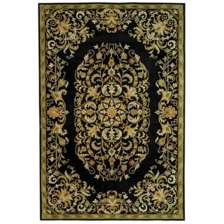 Safavieh Handmade Heritage Timeless Traditional Black Wool Rug (8'3 x 11')
