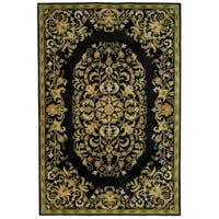 Safavieh Handmade Heritage Timeless Traditional Black Wool Rug - 9'6 x 13'6