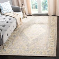 Safavieh Handmade Micro-Loop Beige/ Grey Wool Rug - 4' x 6'