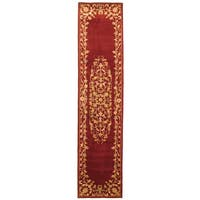 "Safavieh Handmade Heritage Timeless Traditional Red Wool Runner (2'3 x 8') - 2'3"" x 8'"