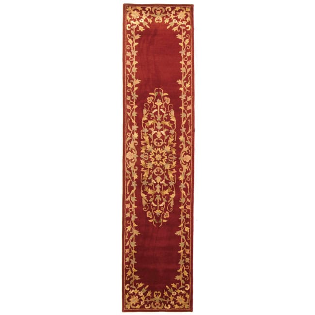 Safavieh Handmade Heritage Timeless Traditional Red Wool Runner Rug - 2'3 x 10'