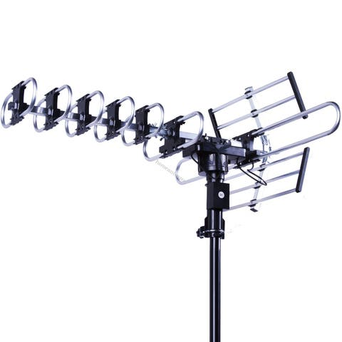 Five Star Outdoor 4K HDTV Antenna Long Range Auto Gain Control Long Range with Motorized 360 Degree Rotation