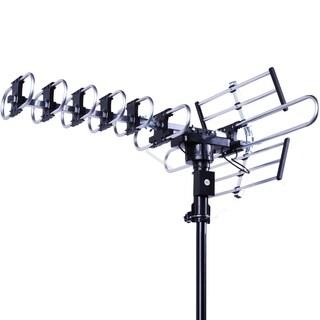 HDTV Antenna FiveStar Outdoor 4K 200 Miles 360 Degree UHF/VHF/FM Remote Control