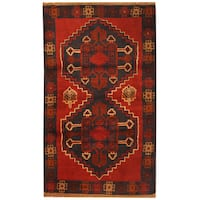 Handmade Herat Oriental Afghan Hand-knotted Tribal Balouchi Wool Rug  - 2'10 x 4'8 (Afghanistan)