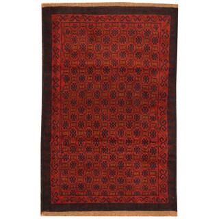Handmade Herat Oriental Afghan Hand-knotted Tribal Balouchi Wool Rug (2'11 x 4'6)