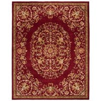 "Safavieh Handmade Heritage Timeless Traditional Red Wool Rug - 7'6"" x 9'6"""