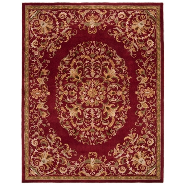 "Safavieh Handmade Heritage Timeless Traditional Red Wool Rug - 7'-6"" x 9'-6"""