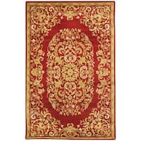 Safavieh Handmade Heritage Timeless Traditional Red Wool Rug - 8'3 x 11'