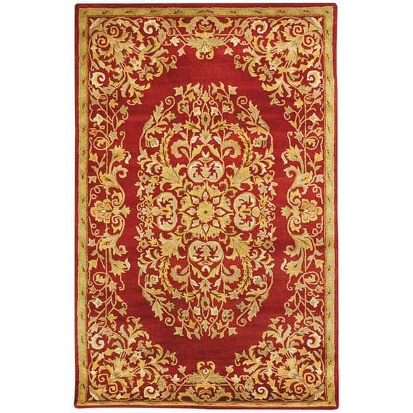 Safavieh Handmade Heritage Timeless Traditional Red Wool Rug - 8'3 x 11'