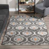Addison Rugs Platinum Collection Moroccan Ikat Grey/Orange/Multicolored Indoor Rectangular Area Rug