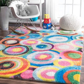 nuLOOM Multicolor Swirling Ripples Abstract Area Rug