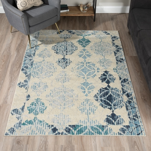 Damask Taupe Rug: Shop Addison Rugs Blair Distressed Brown/Taupe Geometric